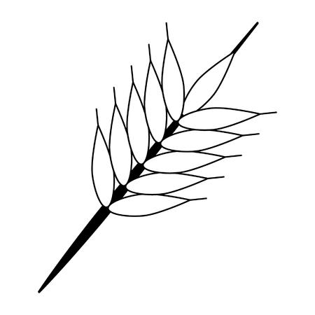 wheat ear icon cartoon vector illustration graphic design
