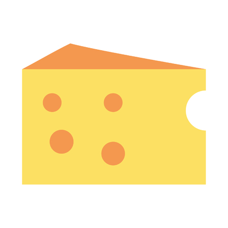 cheese slice icon cartoon vector illustration graphic design