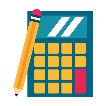calculator icon cartoon isolated vector illustration graphic design