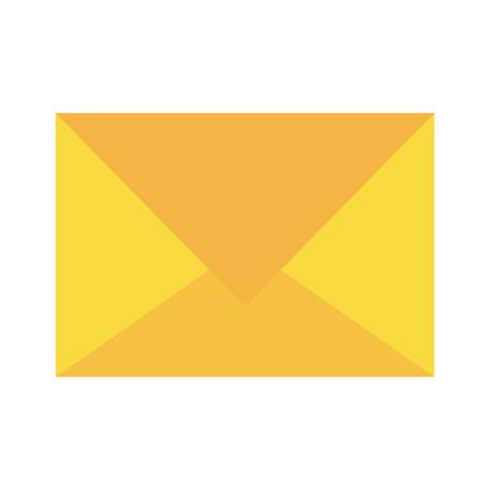 Envelope email symbol isolated vector illustration graphic design Illusztráció