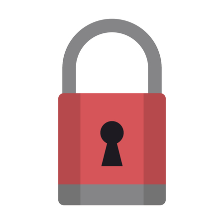 padlock icon cartoon isolated vector illustration graphic design Imagens - 122551061