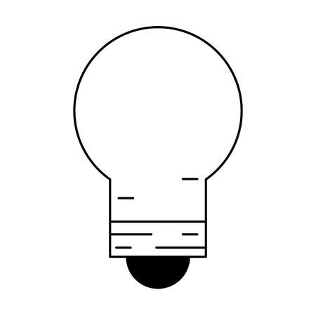 light bulb icon cartoon vector illustration graphic design black and white Ilustração
