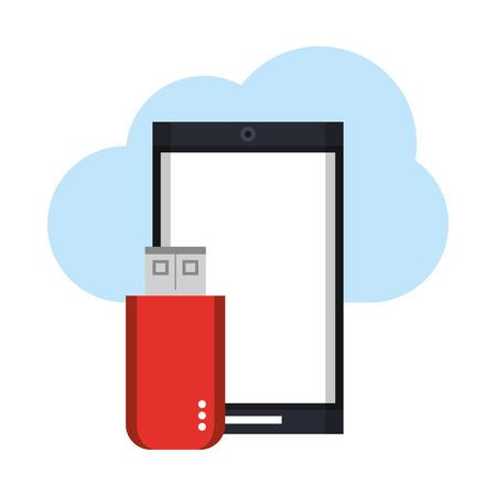 Tecnología para teléfonos inteligentes, herramientas de software, dibujos animados, ilustración vectorial, diseño gráfico