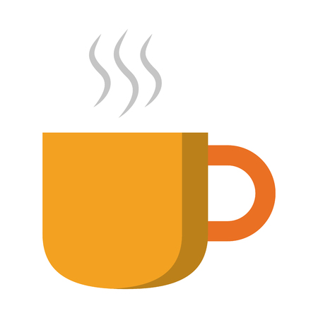 Hot drink in mug cartoon isolated vector illustration graphic design