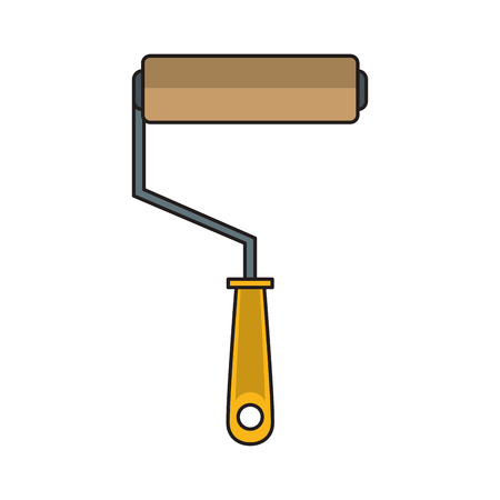 Paint rolling pin construction tool cartoon vector illustration graphic design Banco de Imagens - 122472572