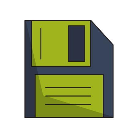 technology diskette cartoon vector illustration graphic design