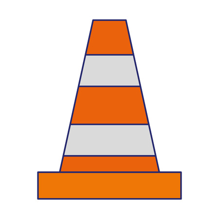 warning cone icon cartoon vector illustration graphic design