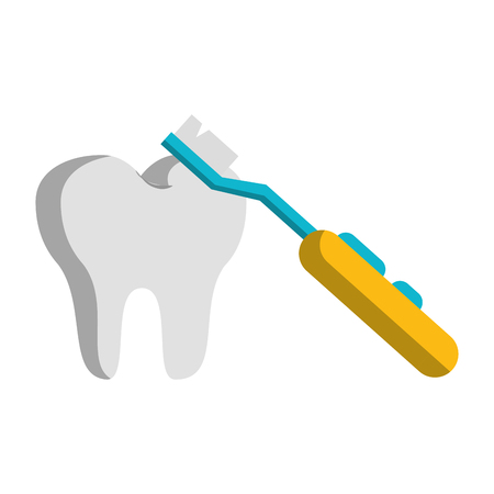 Tooth and electric brush vector illustration graphic design