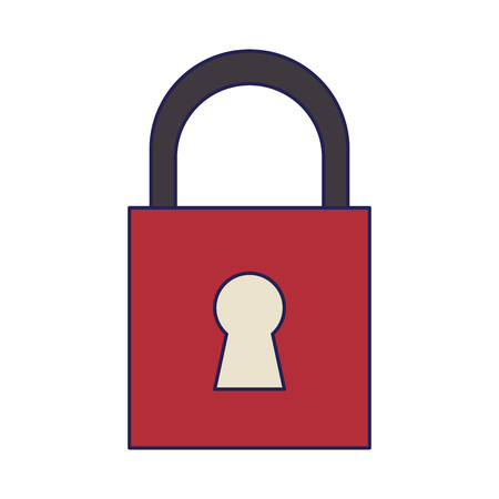 security padlock cartoon vector illustration graphic design Imagens - 122472747