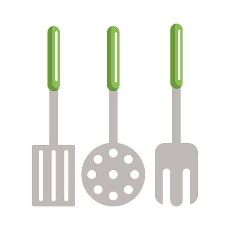 Kitchen utensils and supplies cartoons vector illustration graphic design Ilustrace