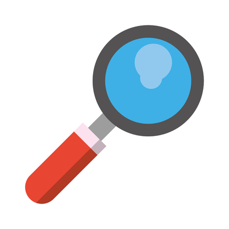 magnifying glass icon cartoon isolated vector illustration graphic design