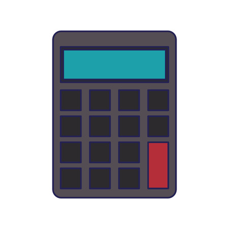 saving money concept calculator cartoon vector illustration graphic design