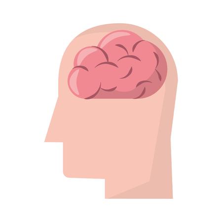 human brain cartoon vector illustration graphic design  イラスト・ベクター素材