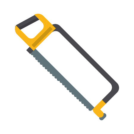 Hacksaw construction tool cartoon vector illustration graphic design