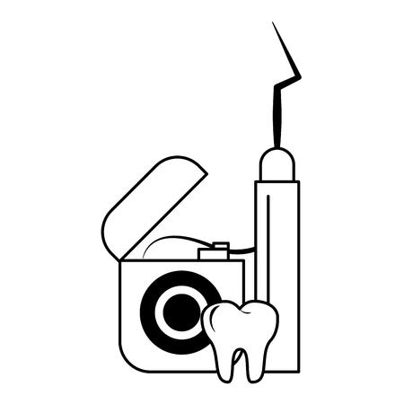 Dental care health and hygiene symbols and elements vector illustration graphic design 免版税图像 - 122473089