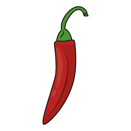 Chilli spicy vegetable cartoon isolated vector illustration graphic design