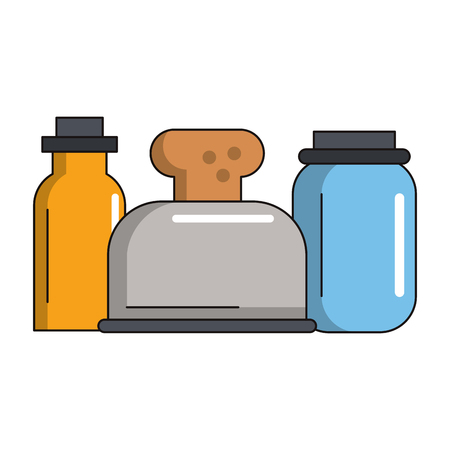 Kitchen utensils and supplies cartoons vector illustration graphic design