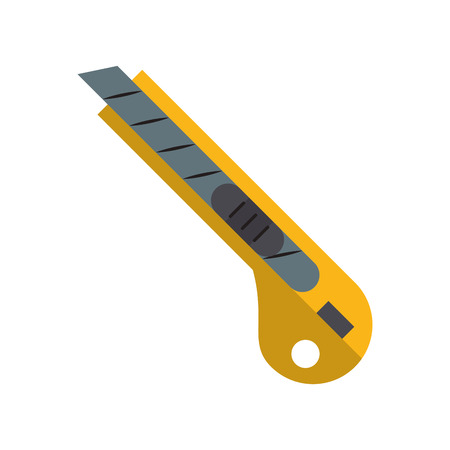 Scalpel construction tool cartoon vector illustration graphic design
