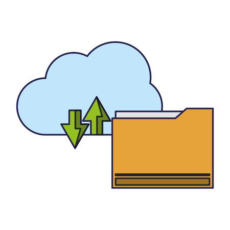 technology software cloud tools cartoon vector illustration graphic design Ilustração