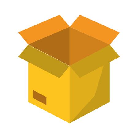 cardboard box cartoon vector illustration graphic design Vettoriali