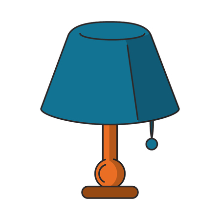 Night desk light lamp vector illustration graphic design Illustration