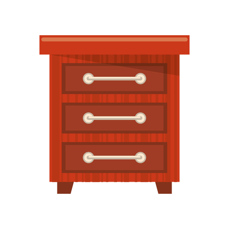 furniture concept drawer cartoon vector illustration graphic design