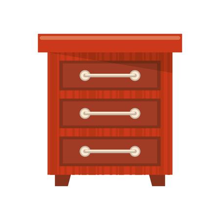 furniture concept drawer cartoon vector illustration graphic design