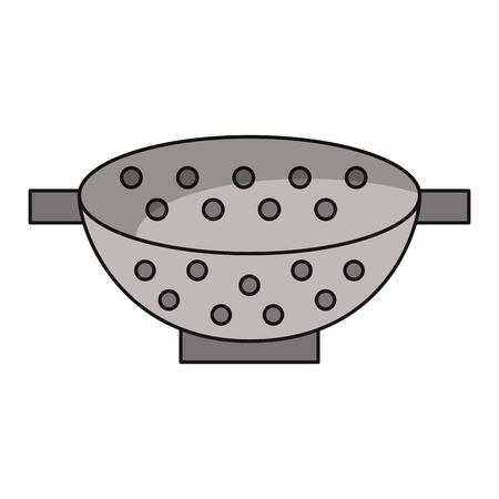 Fryer bowl kitchen utensil vector illustration graphic design