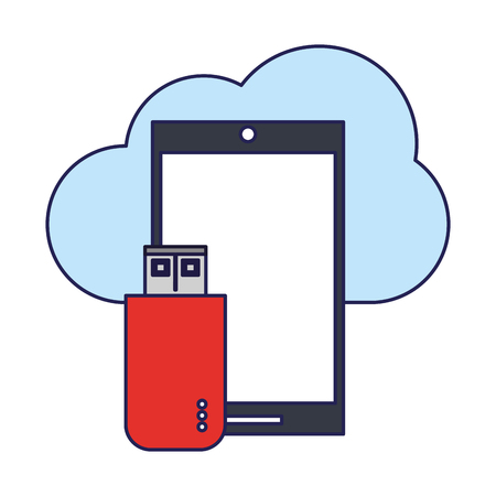 technology smartphone software tools cartoon vector illustration graphic design