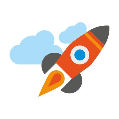 rocket icon cartoon isolated vector illustration graphic design Ilustrace