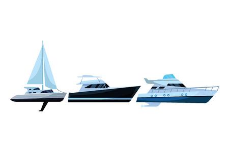 Sailboat ship marine travel vehicle machine sea exploration and yatch vector illustration graphic design