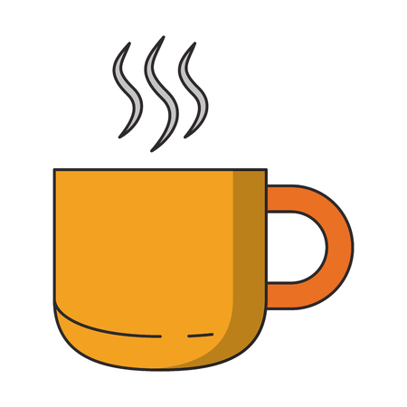 Hot drink in mug cartoon isolated vector illustration graphic design Ilustrace