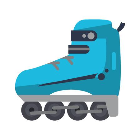 Skates sport equipment isolated vector illustration graphic design