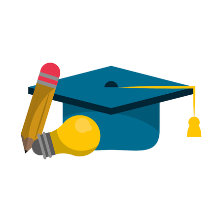 Education and academy cartoons isolated vector illustration graphic design