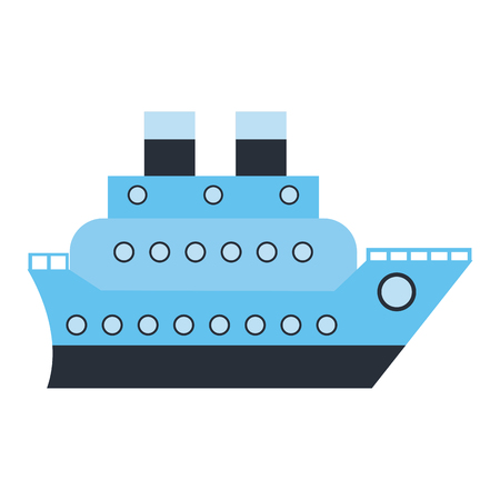 Cruise ship boat symbol isolated vector illustration graphic design Çizim