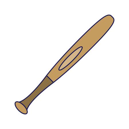 Baseball bat isolated cartoon vector illustration graphic design Standard-Bild - 122079142