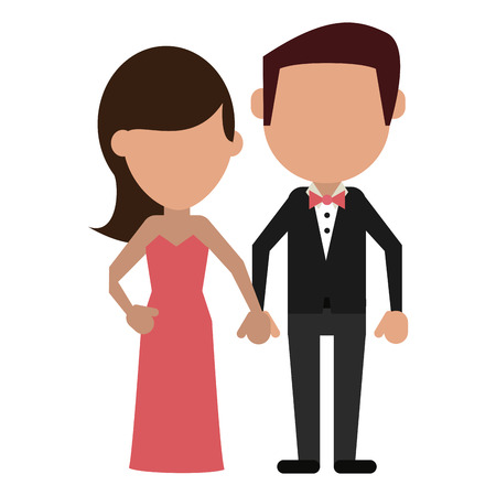 husband and wife clasped hands faceless avatar vector illustration graphic design