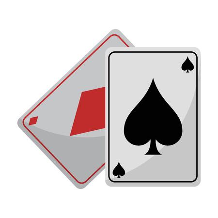 Leisue poker cards isolated cartoon