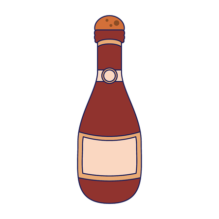 Chamapgne bottle cartoon isolated vector illustration graphic design Stock Illustratie