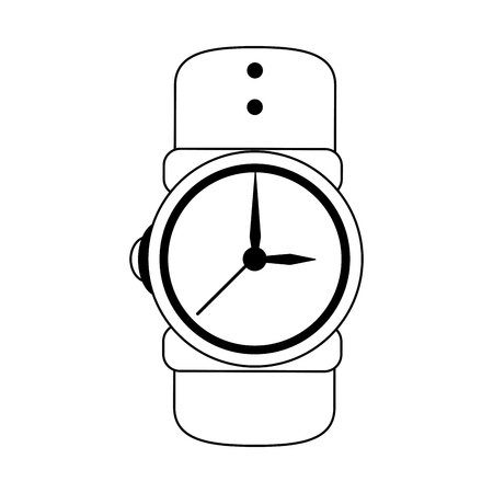 fashion male wristwatch accesory vector illustration graphic design