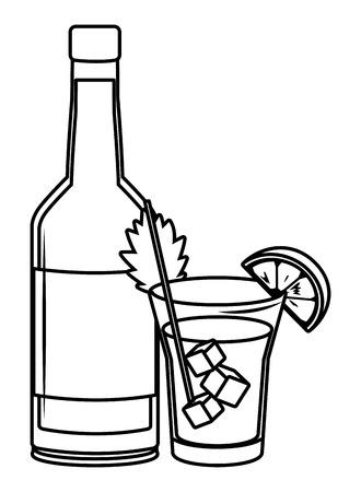 bevande alcoliche bevande fumetto illustrazione vettoriale graphic design