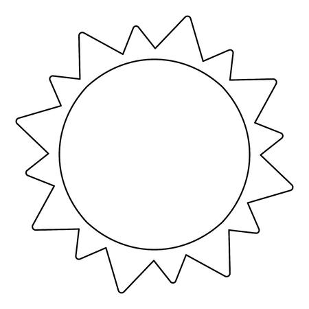 Sun cartoon isolated symbol vector illustration graphic design Ilustrace