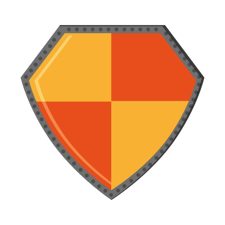 Shield security symbol isolated vector illustration graphic design
