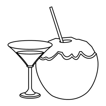 alcoholic drink beverage cartoon vector illustration graphic design