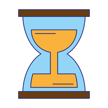 hourglass icon cartoon isolated vector illustration graphic design