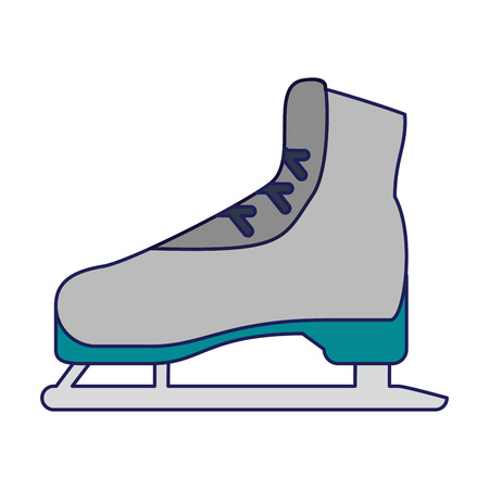Ice skate sport equipment vector illustration graphic design Ilustração