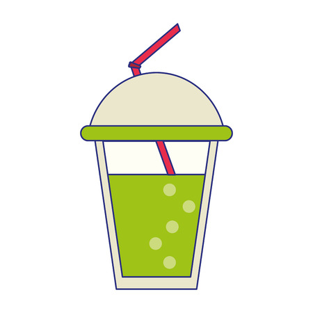 Smoothie cup with straw drink vector illustration graphic design
