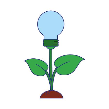 Green and renewable energy symbols vector illustration graphic design Ilustracja