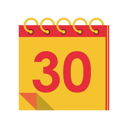 Calendar planner with thirty day vector illustration graphic design Zdjęcie Seryjne - 122406882