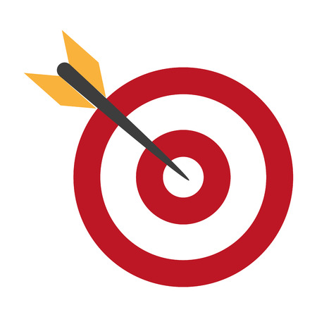 target icon cartoon with arrow vector illustration graphic design